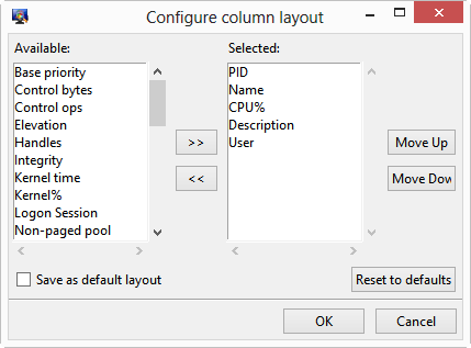 Table editor image